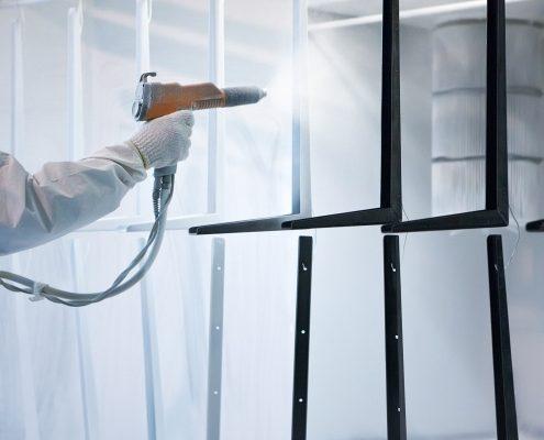 pulverlackering med färger för elektrostatisk beläggning