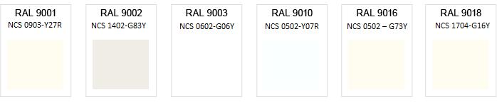 Välkända Vit Målarfärg   Vita NCS- och RAL-färger - Coatings.se XB-44